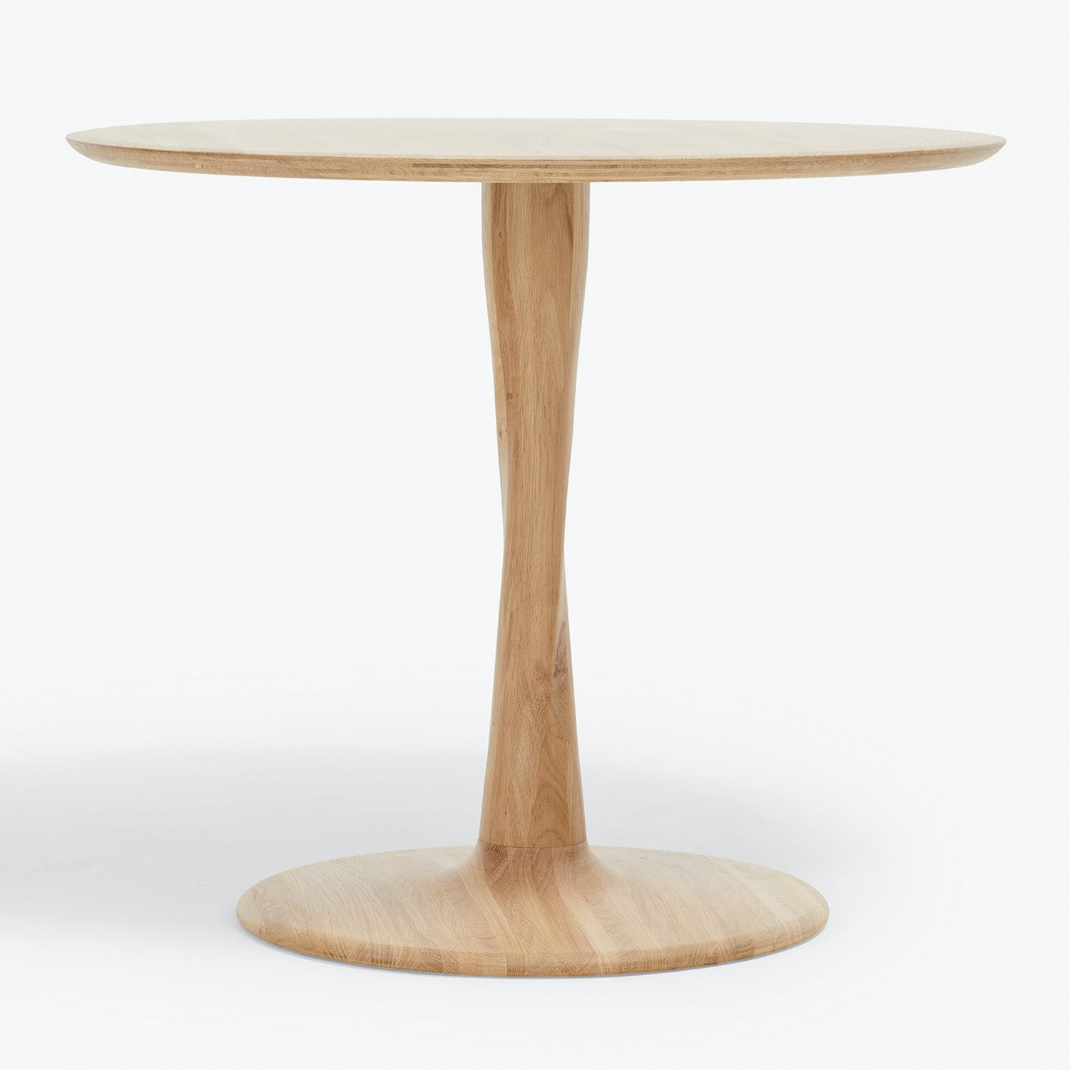 Product Image - Natural Oak Torsion Round Dining Table