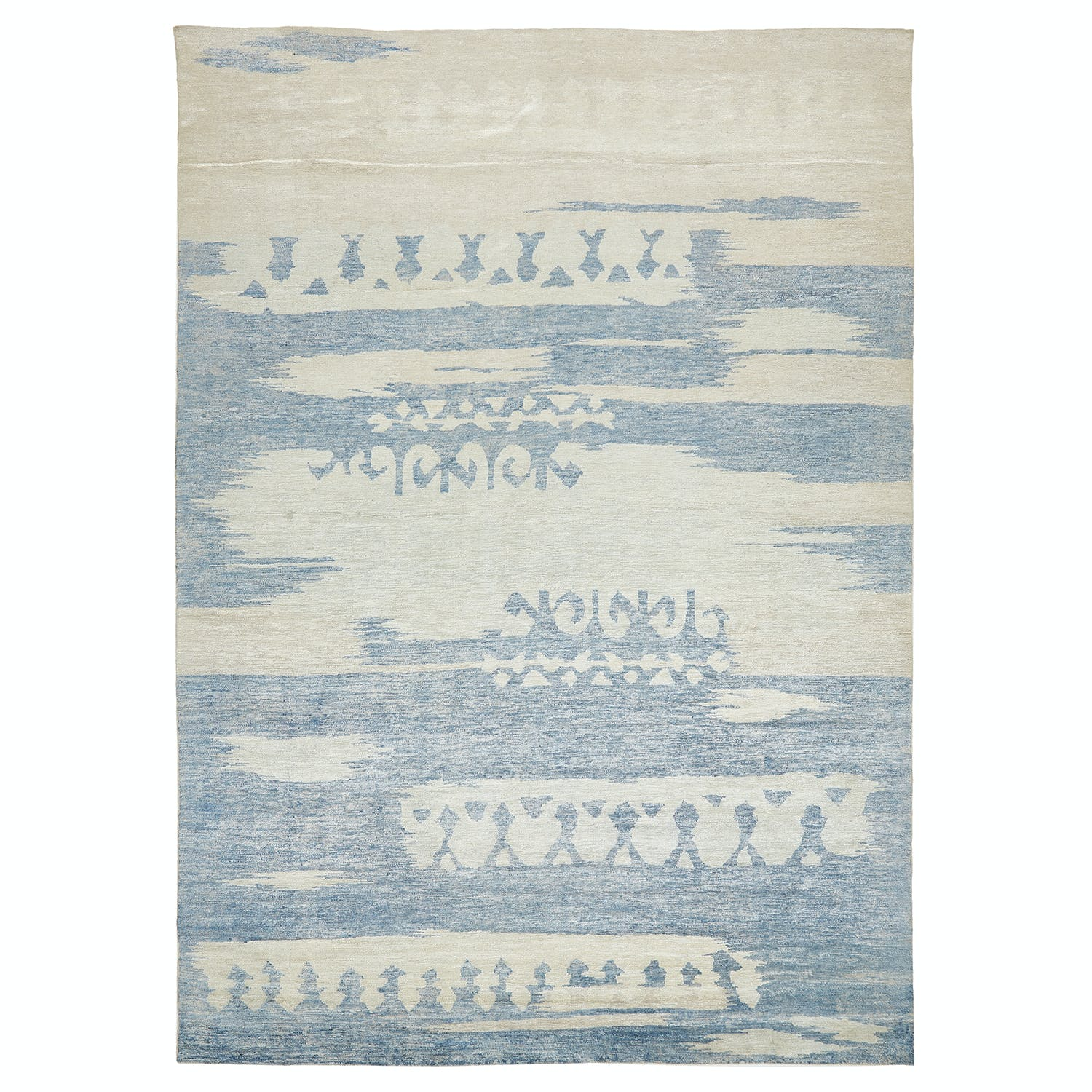 Contemporary Silk Rug - 10' x 14'