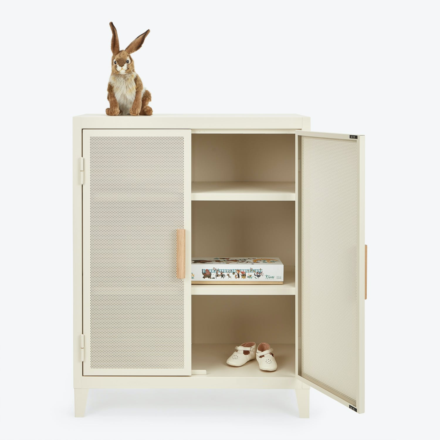 Product Image - Tolix Perforated Short Locker Ivory