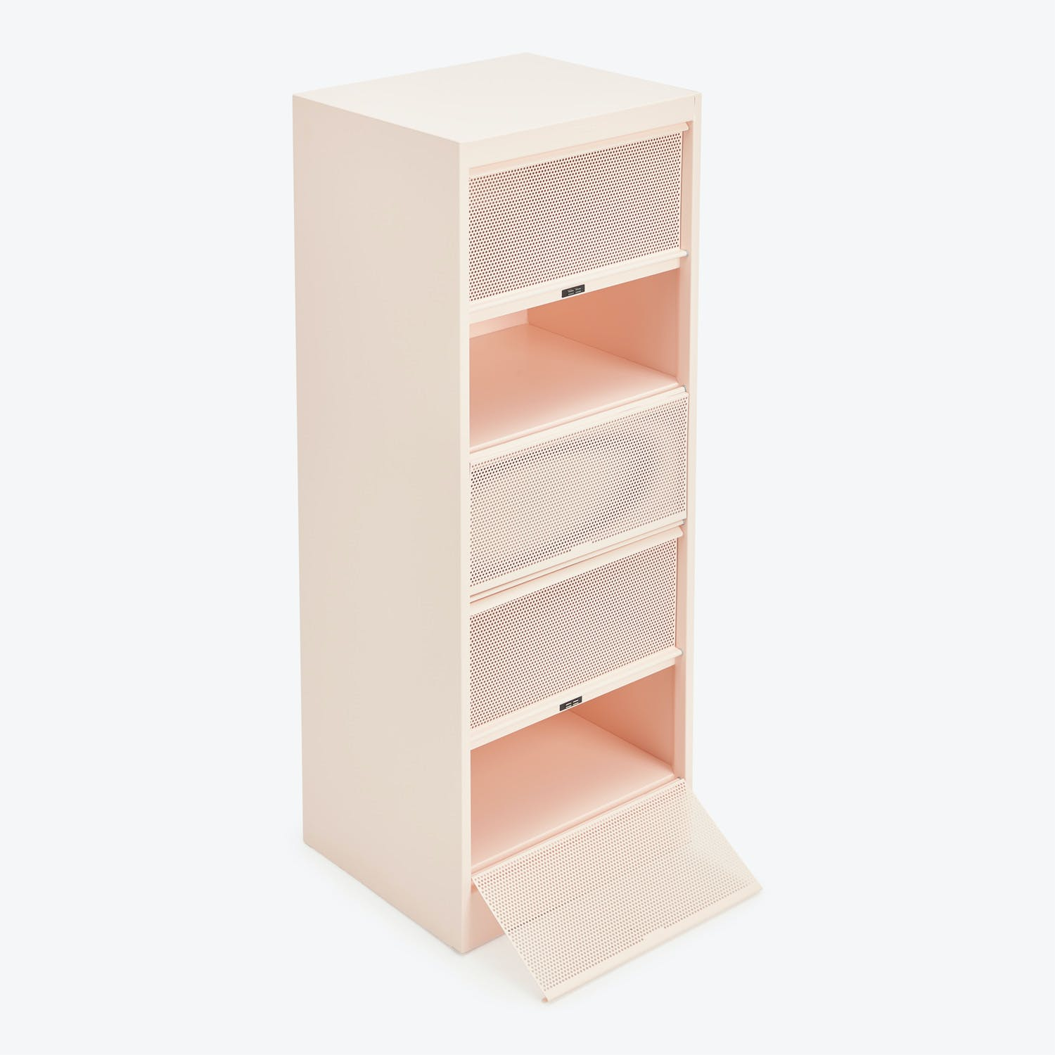 Perforated 5-Drawer Cabinet Rose