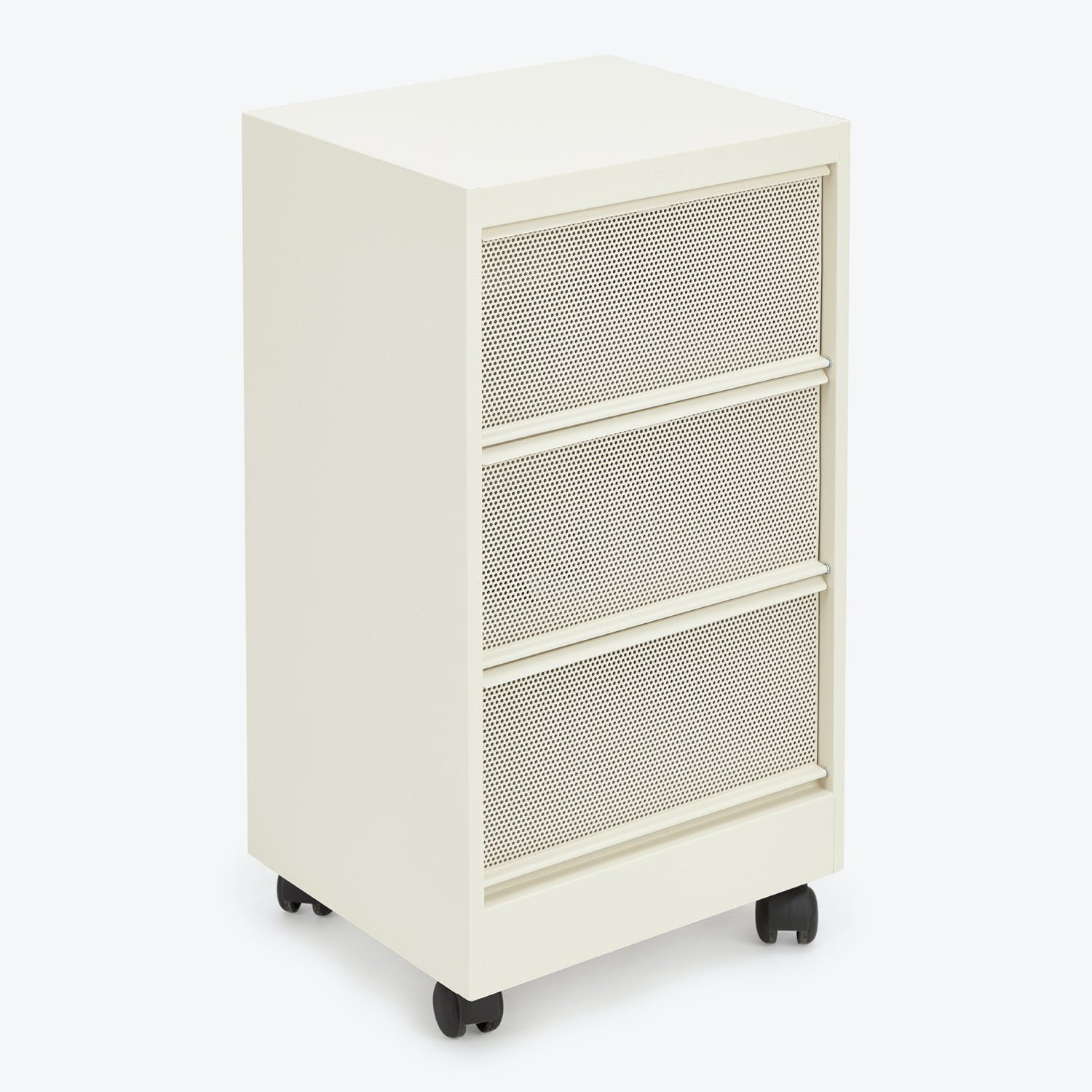 Perforated 3-Drawer Cabinet Ivory