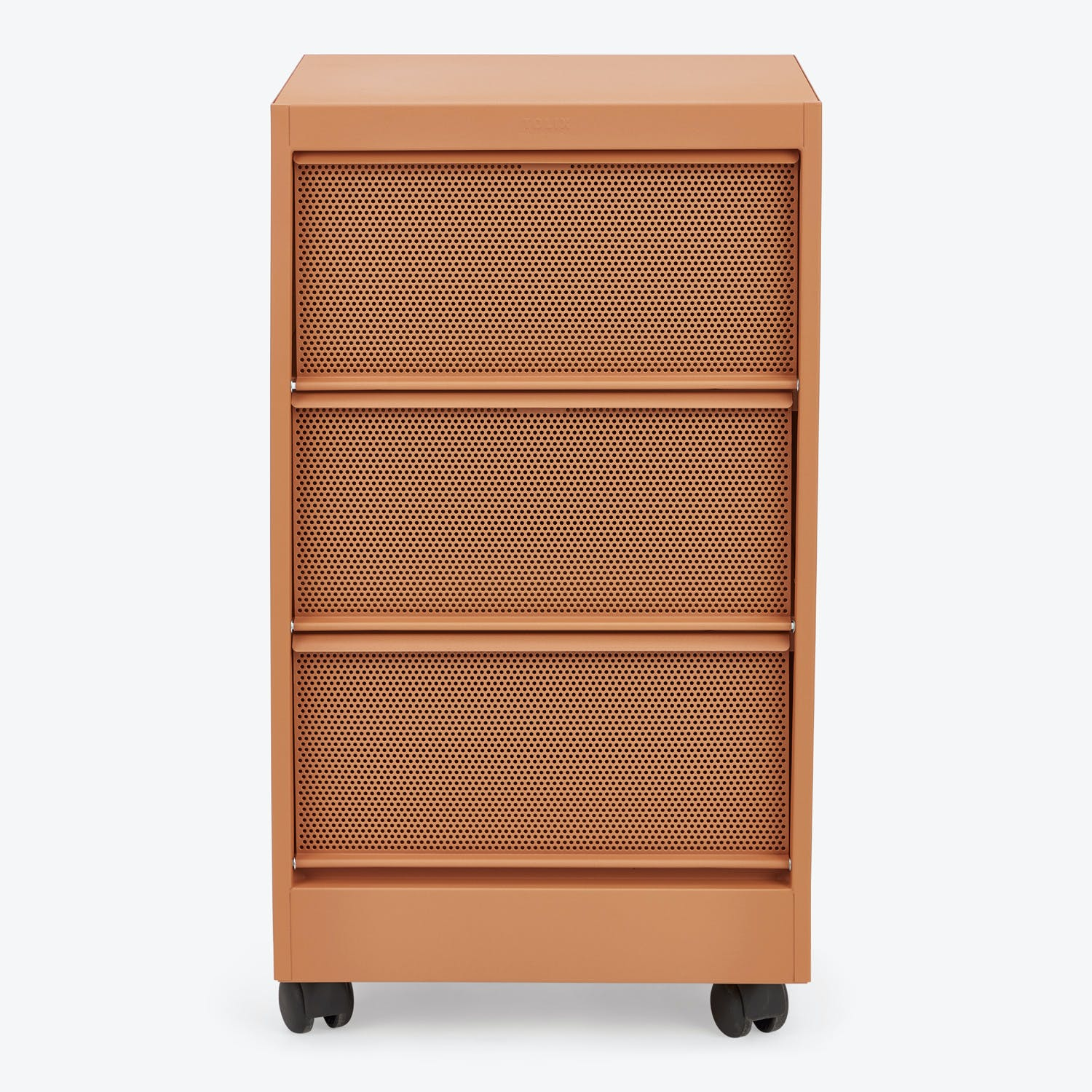 Perforated 3-Drawer Cabinet Terracotta