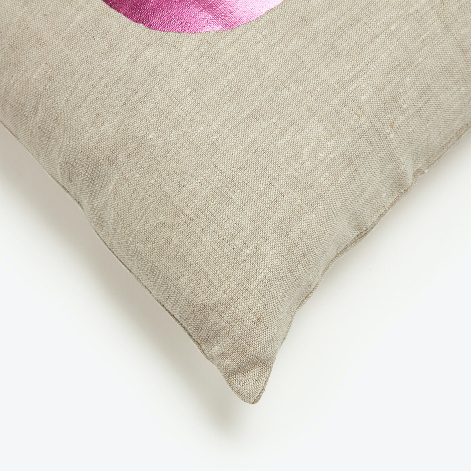 Lucky Fish Evil Be Gone Pillow Pink