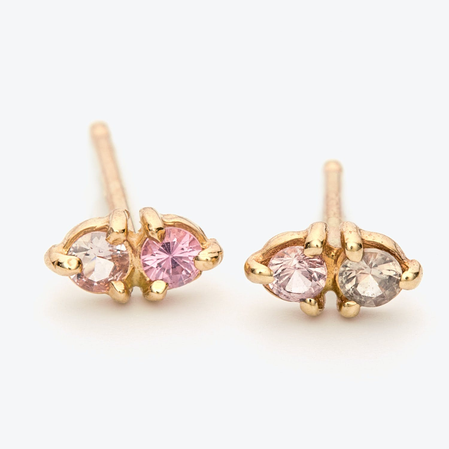 Light Limited Edition Pink Sapphire 2-Step Earrings