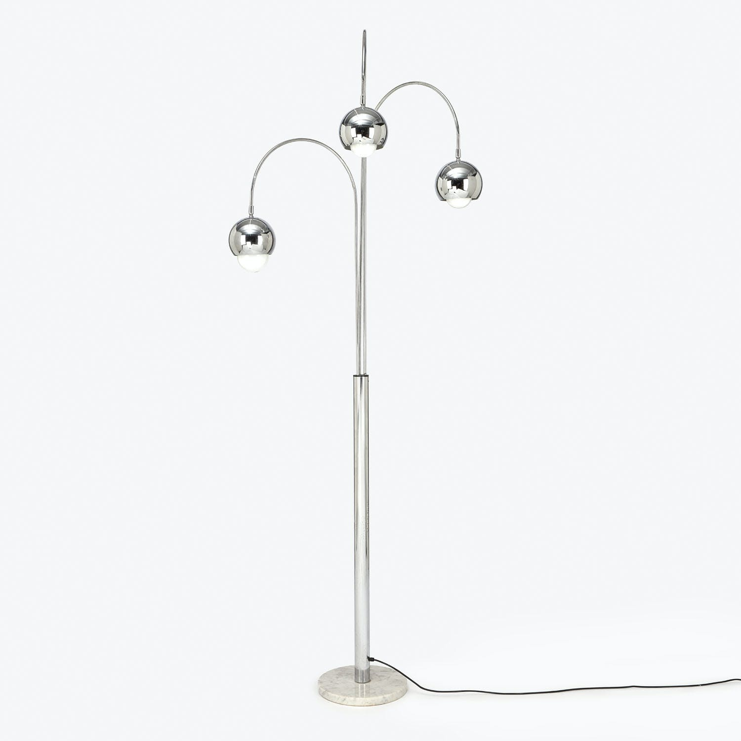 Product Image - Vintage Chrome Floor Lamp