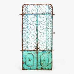 Product Image - Vintage Painted Iron Doors
