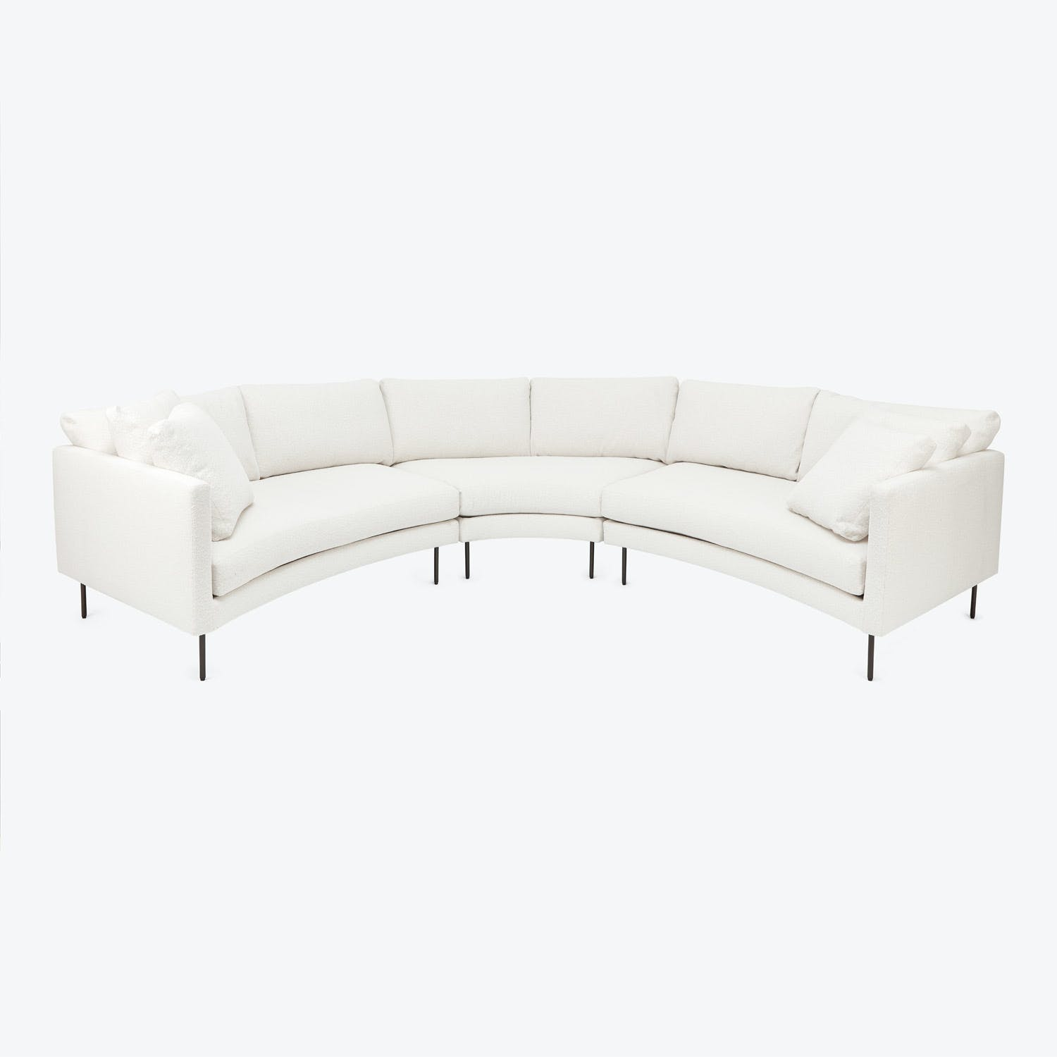 Thayer Coggin + Milo Baughman Slice Curved Sectional