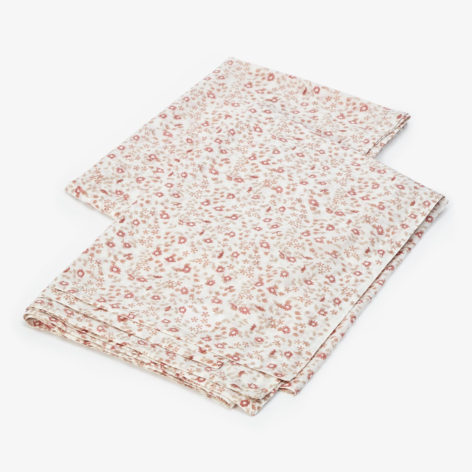 Kerry Cassill Queen Small Floral Cotton Voile Fitted Sheet Multi
