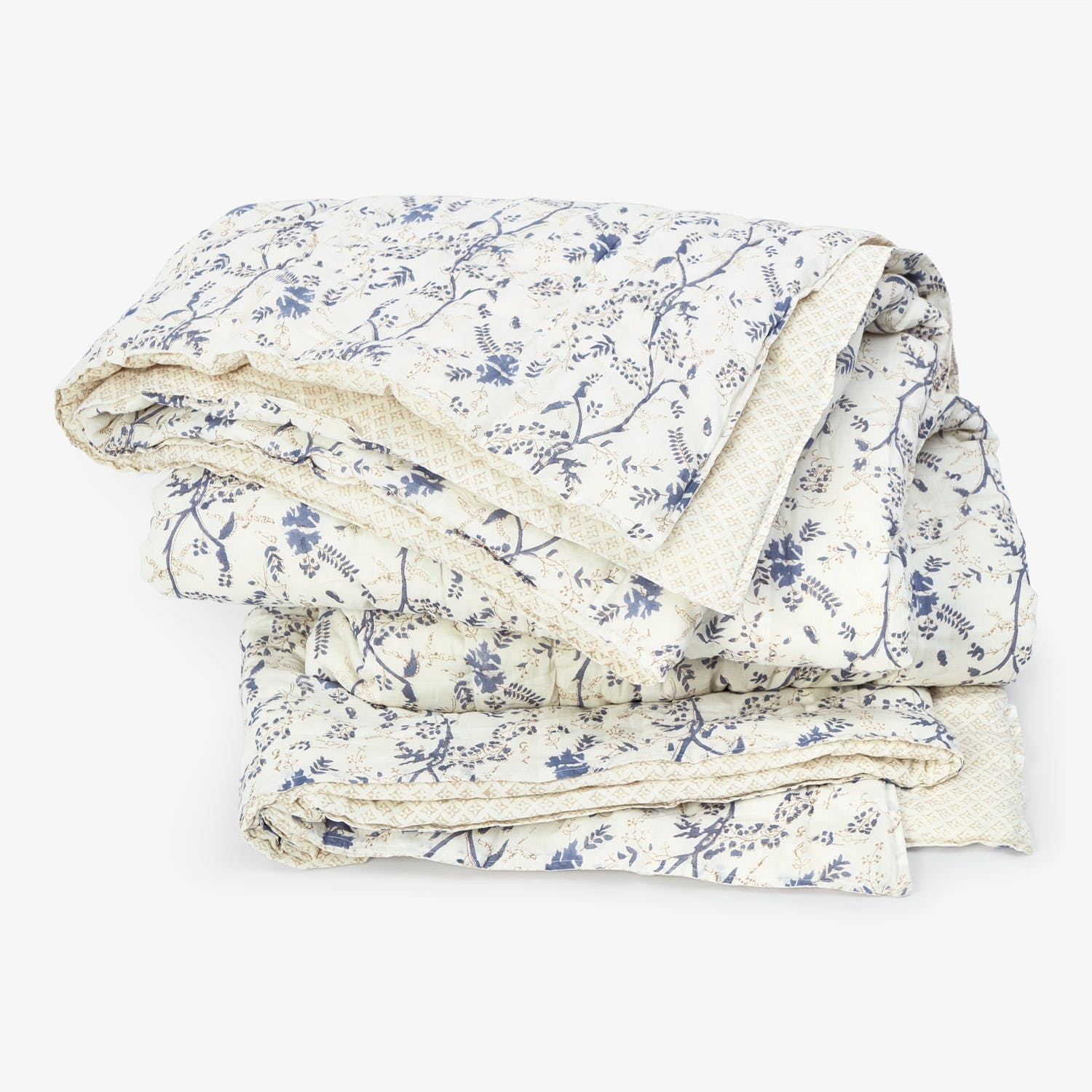 Kerry Cassill King Jasmine Cotton Voile Quilt Blue