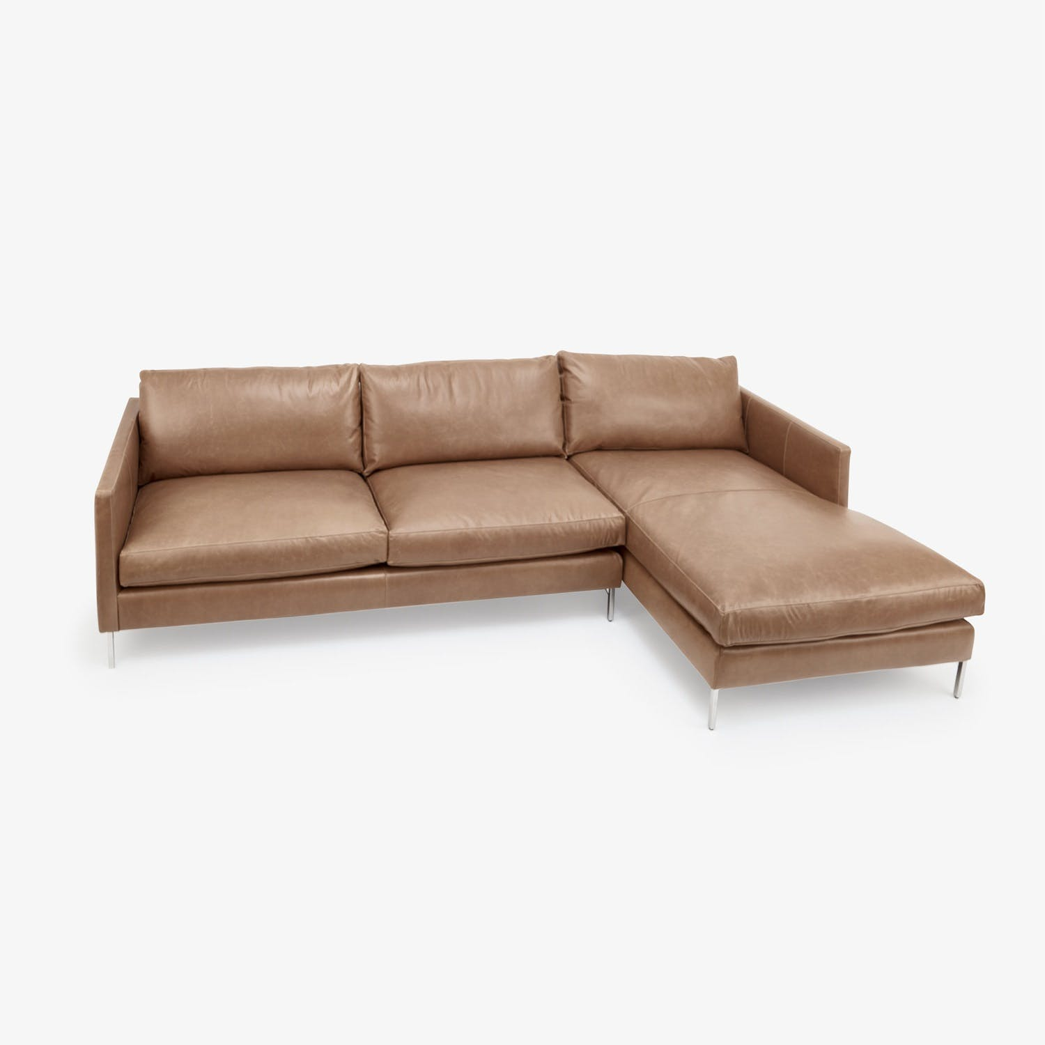 Cobble Hill Hannah Leather Sectional