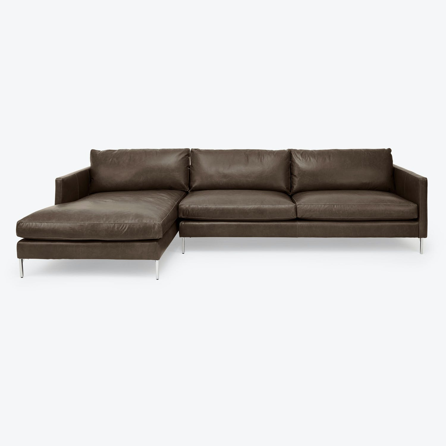 Cobble Hill Hannah Leather Sectional Storm