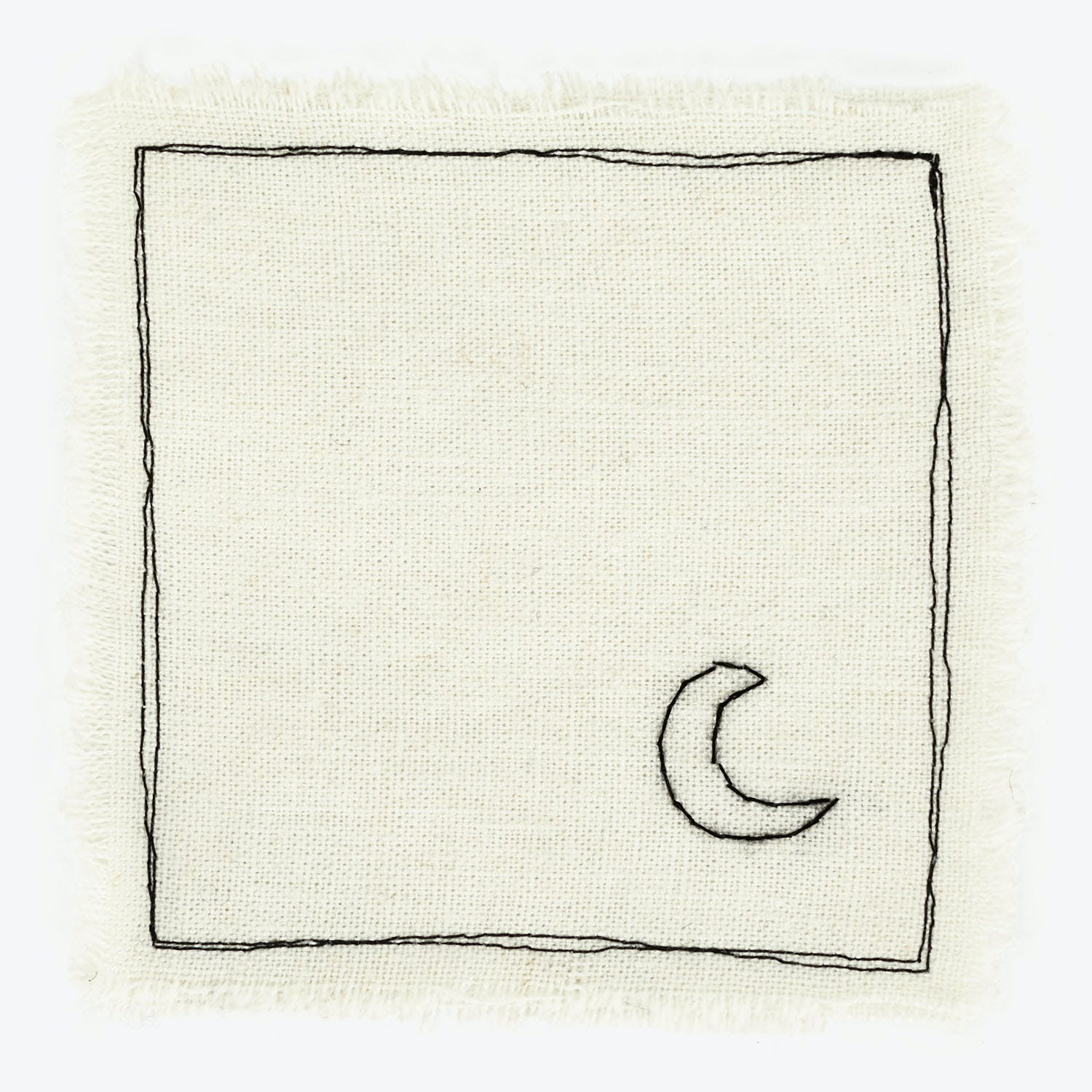 Embroidered Moon Coaster