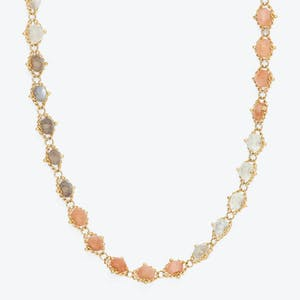 Product Image - Multicolor Moonstone Textile Necklace