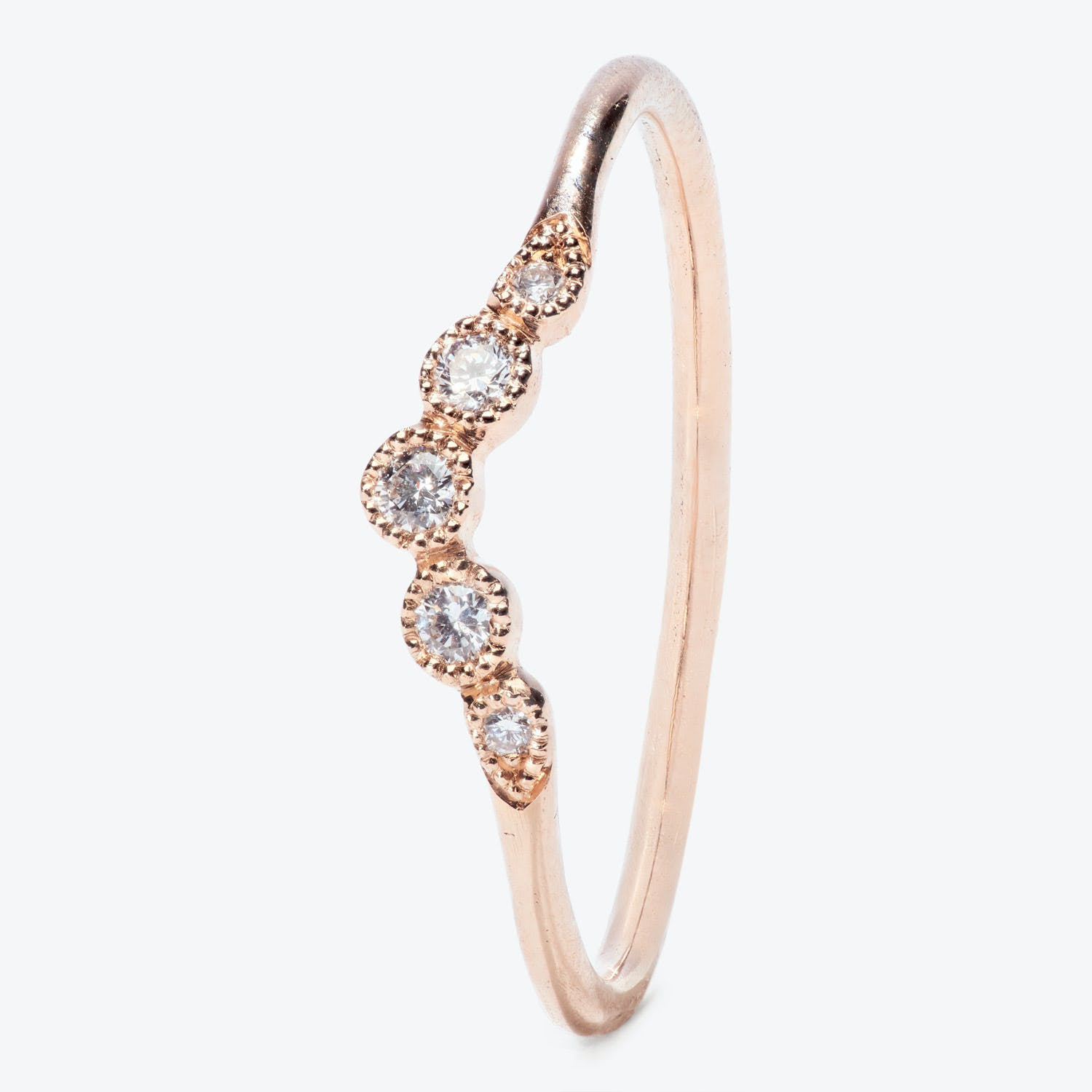 Myrtille Beck Diamond Extra Large Celestial Curve Ring