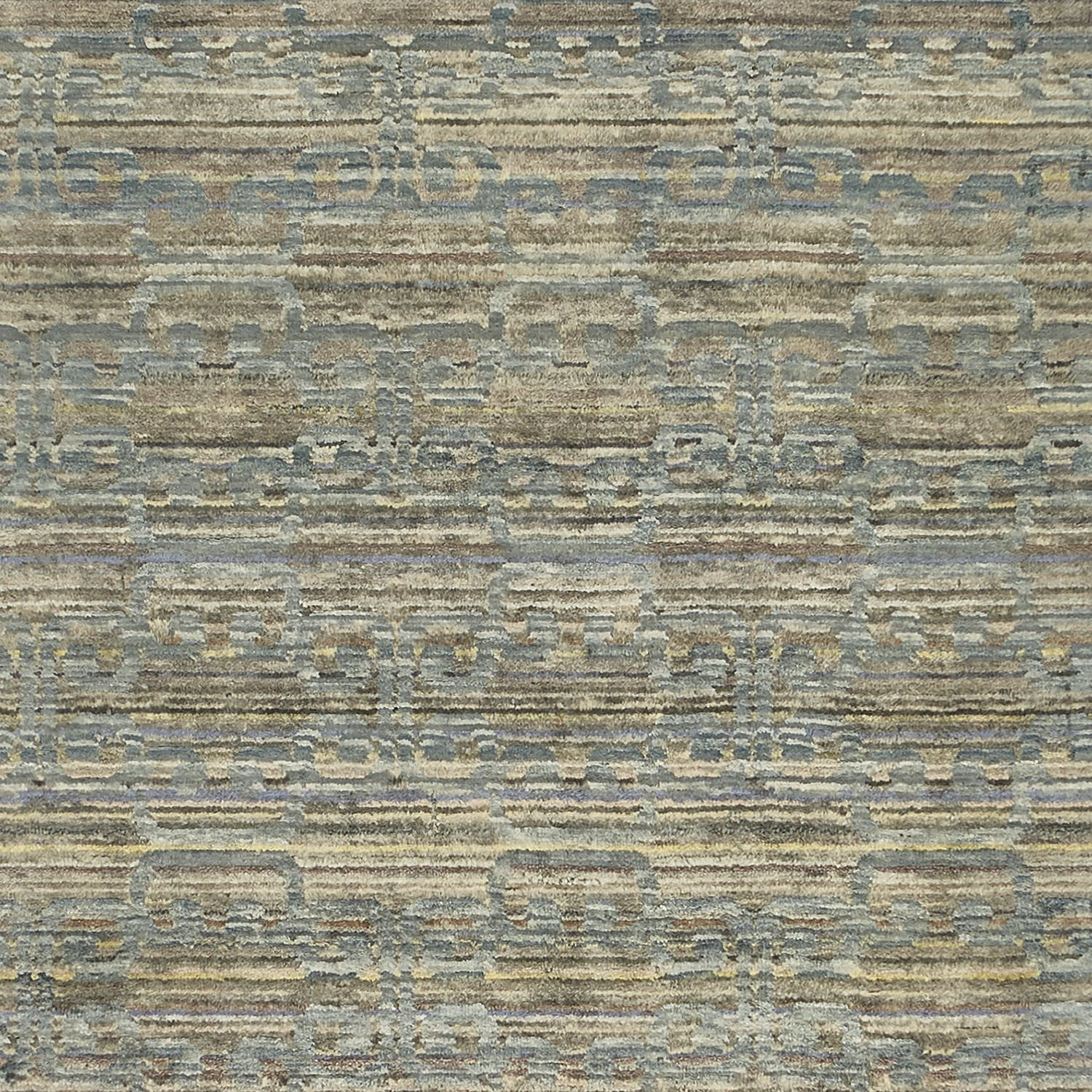"Contemporary Silk & Wool Rug - 2'10"" x 9'9"""