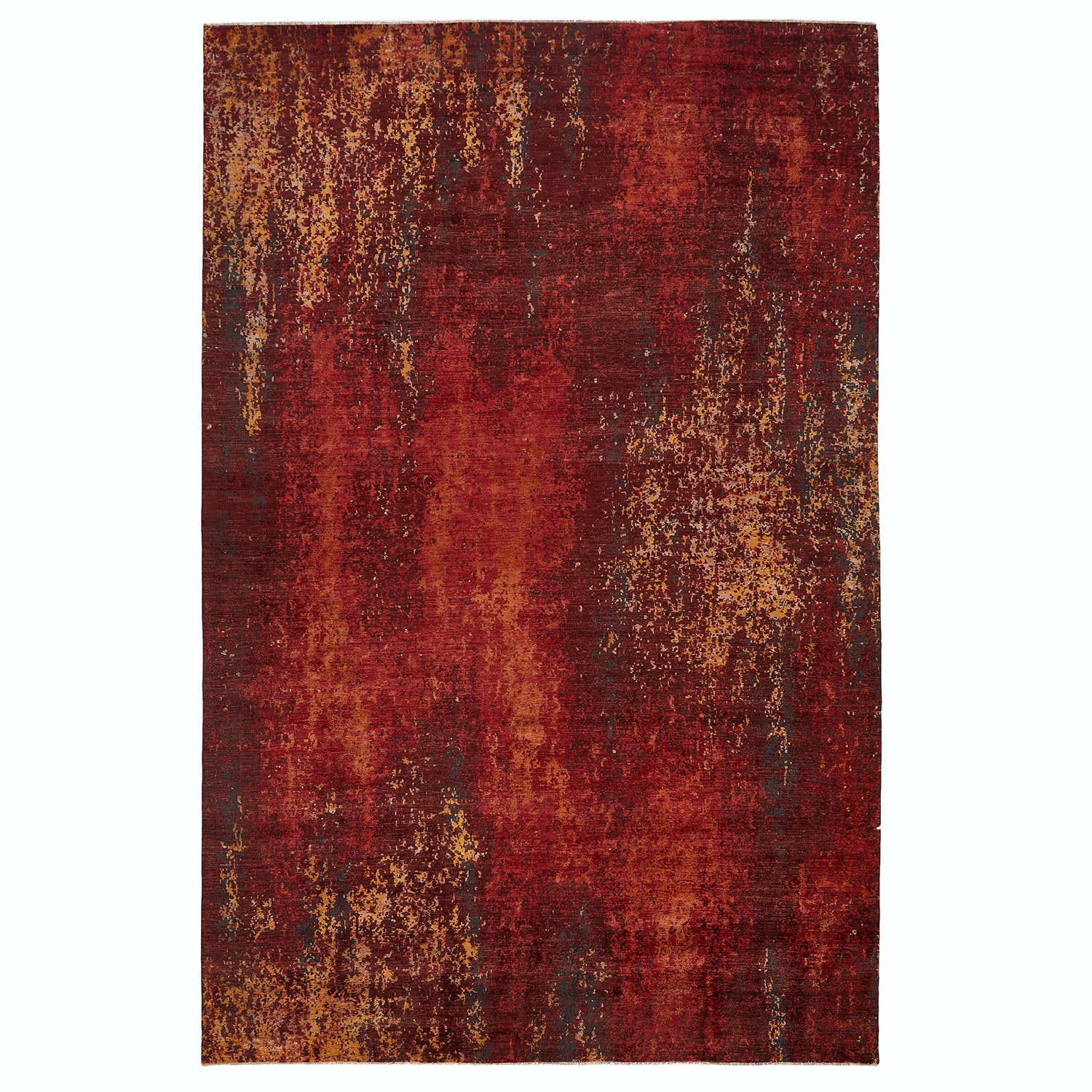 """Color Reform-Silk Overdyed Rug-12'1""""x18'6"""""""