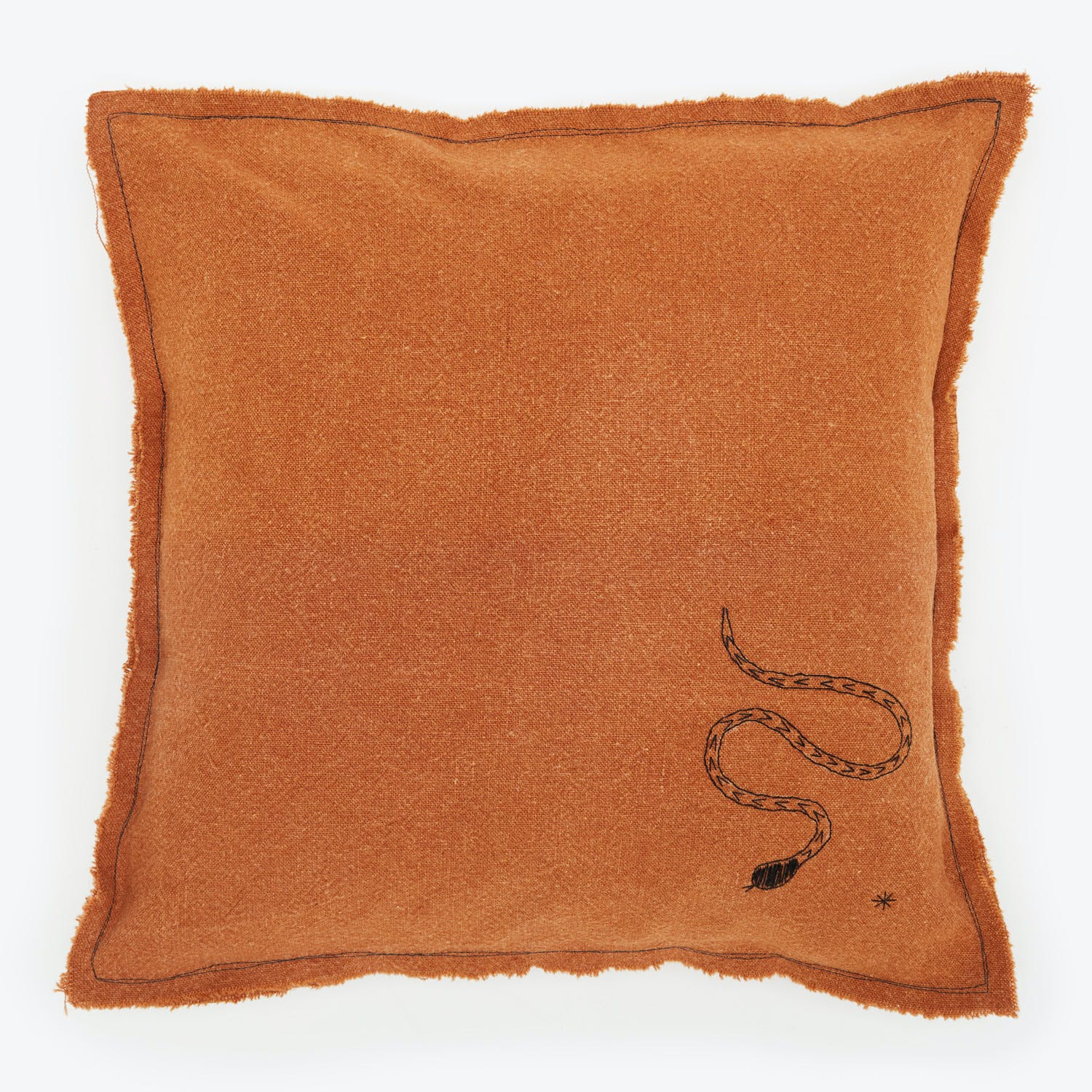 Product Image - Embellished Pillow Ochre