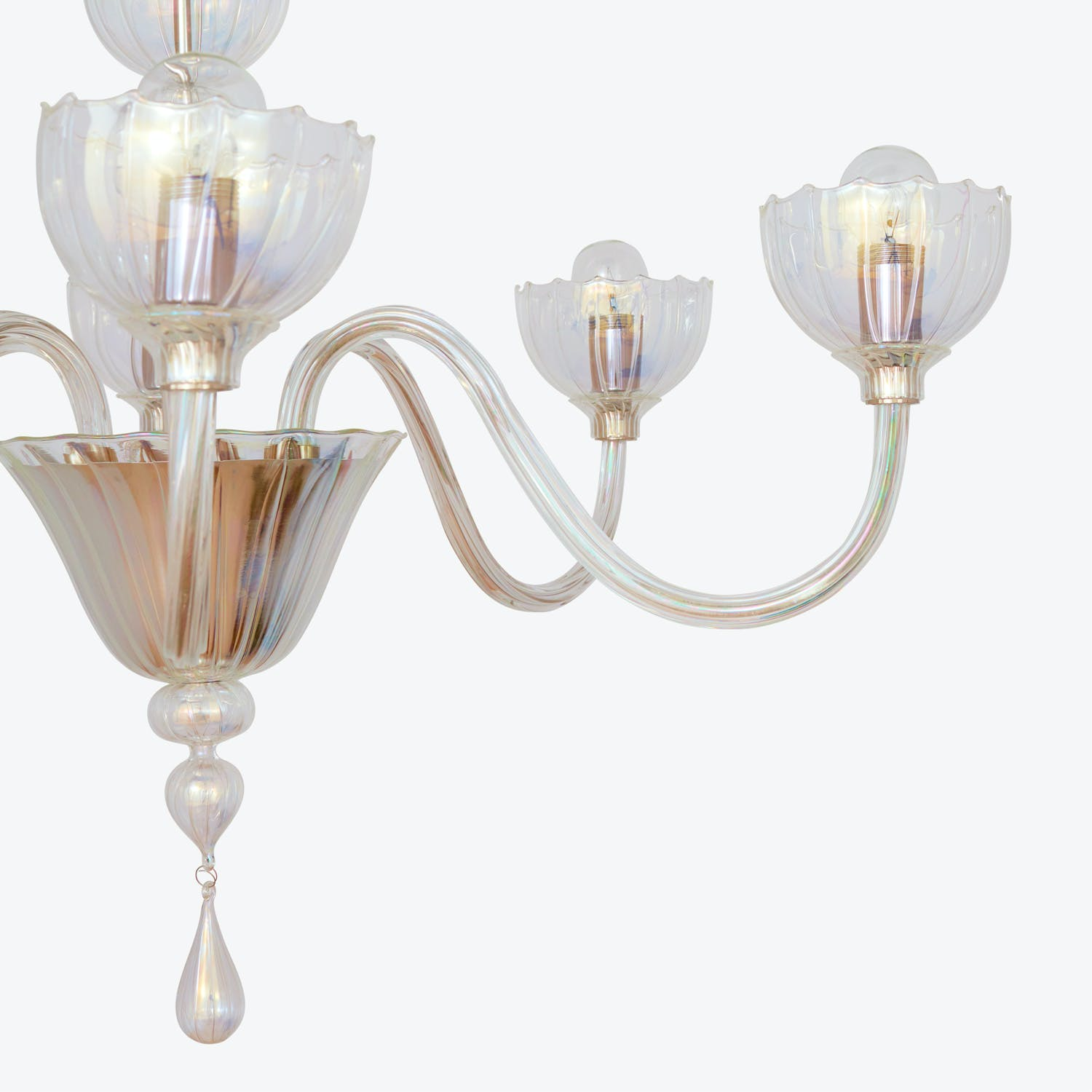 Product Image - Handblown Glass 6-Light Chandelier