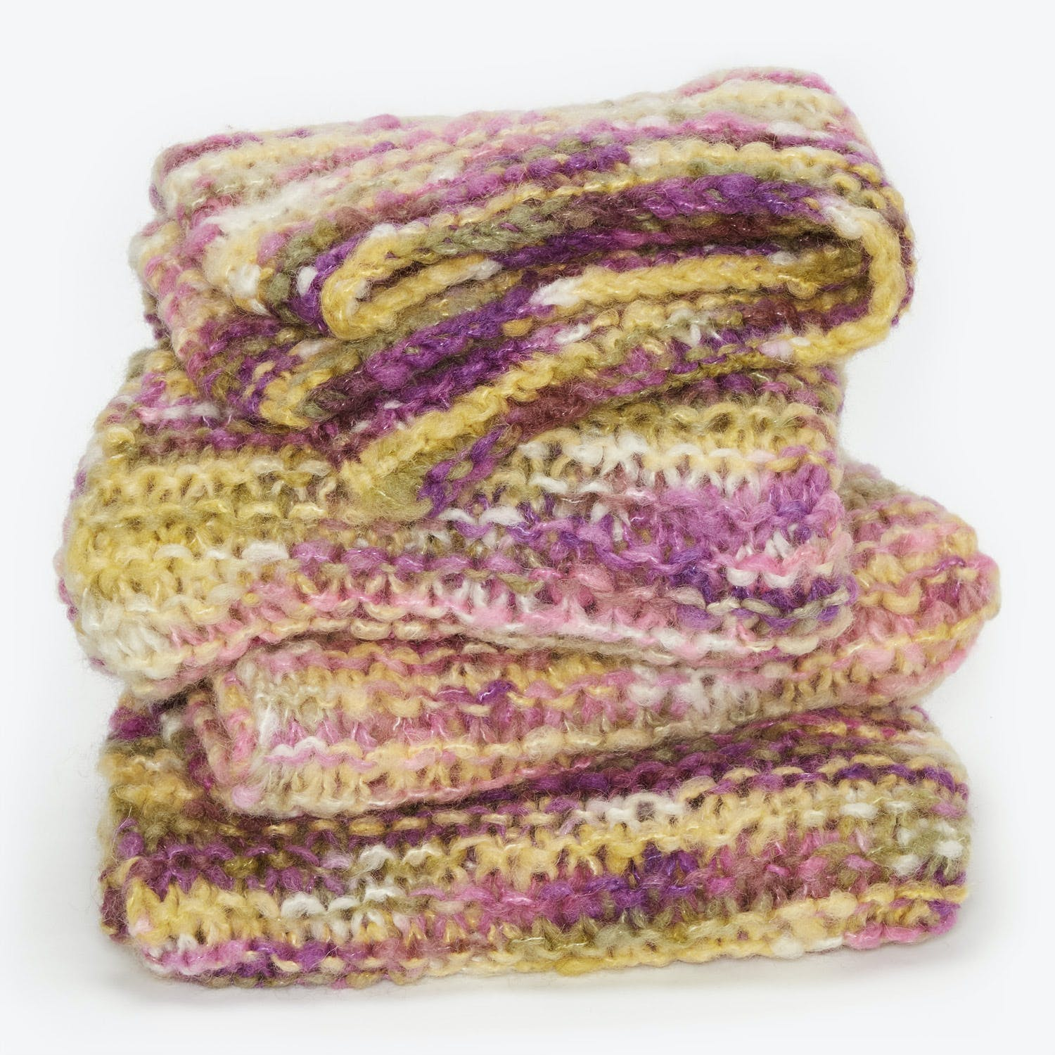 Fe Knits Mohair Throw Freesia