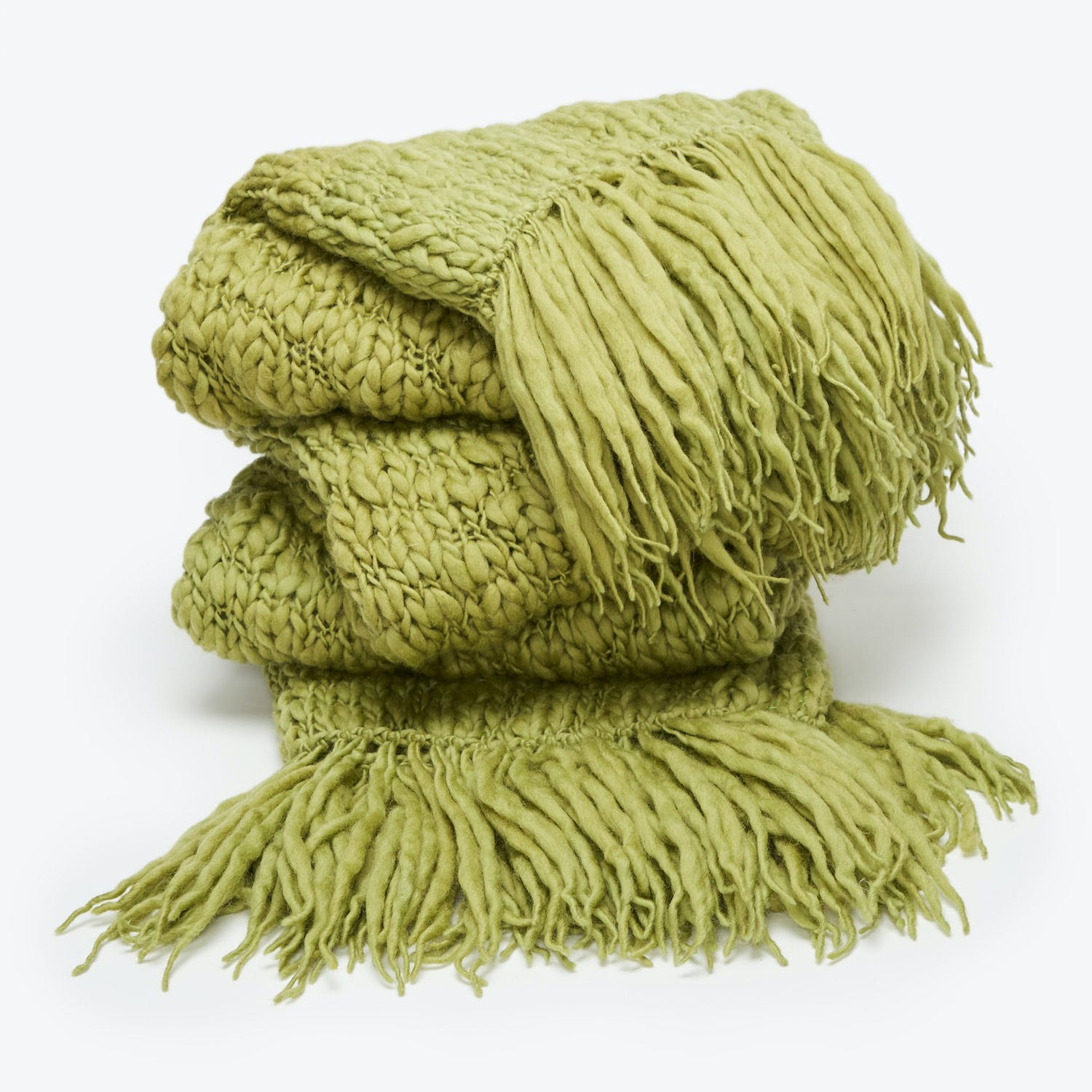 Fe Knits Knit Throw Moss