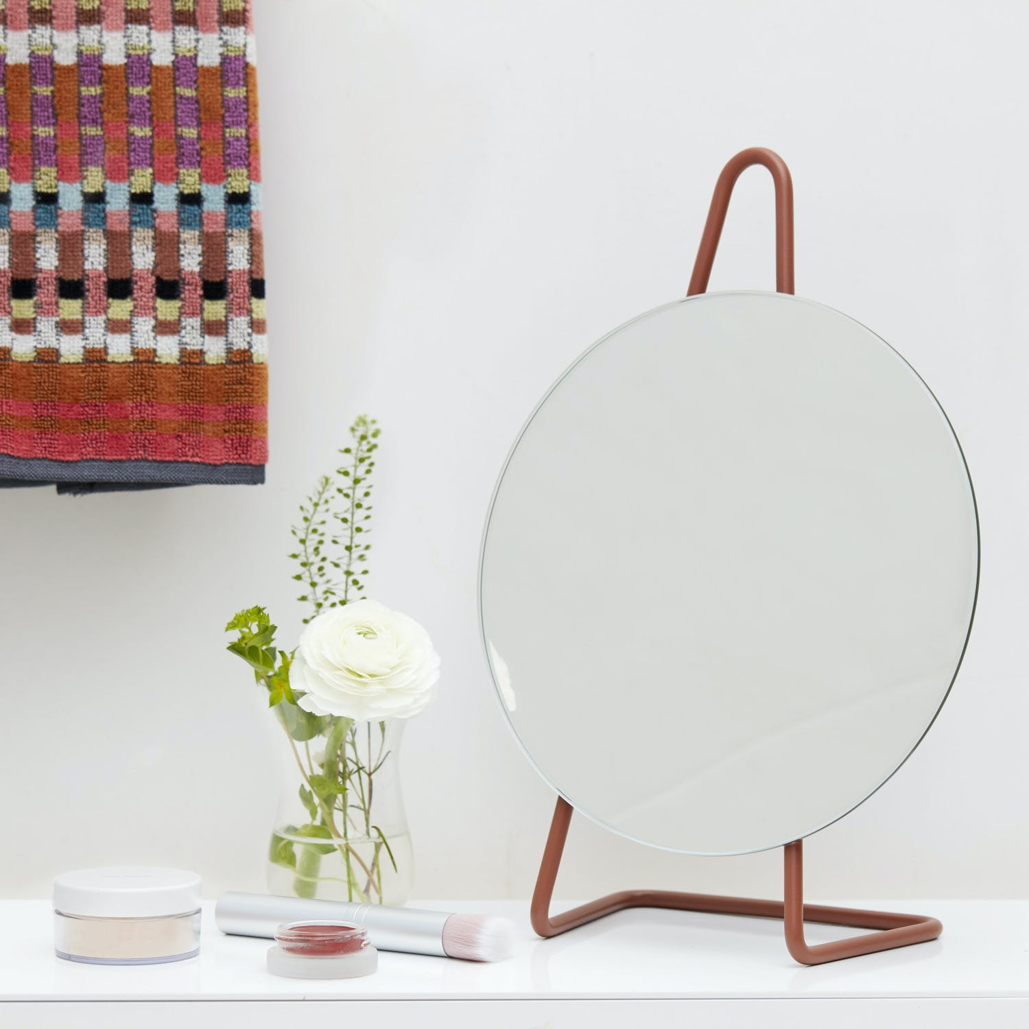 A-Frame Table Mirror Amber