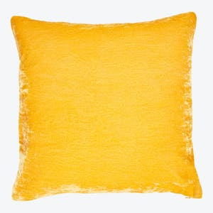 Product Image - Luminous Velvet Pillow Saffron