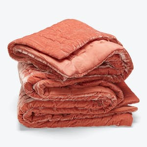 Product Image - Luminous Velvet Quilt Terracotta