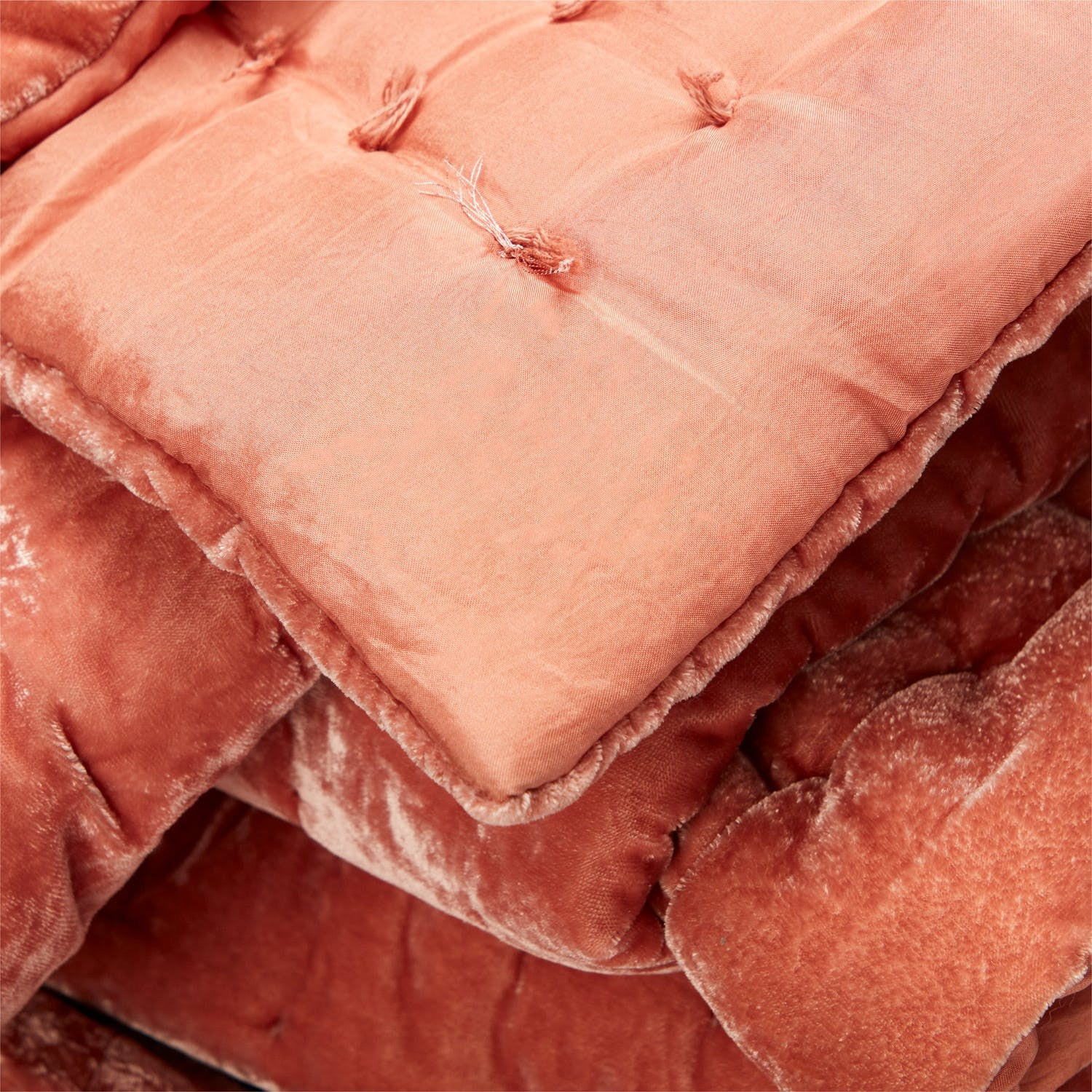 abcDNA Luminous Velvet Quilt King Terracotta