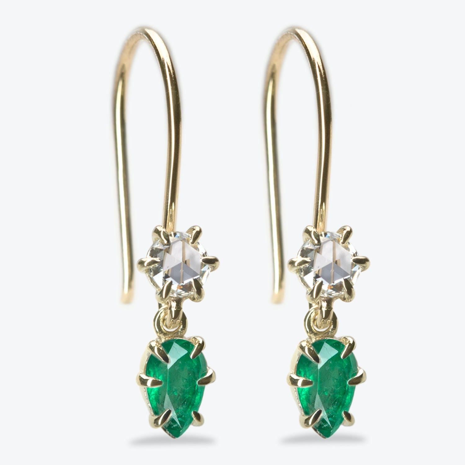 Ila Emerald & Diamond Primary Earrings