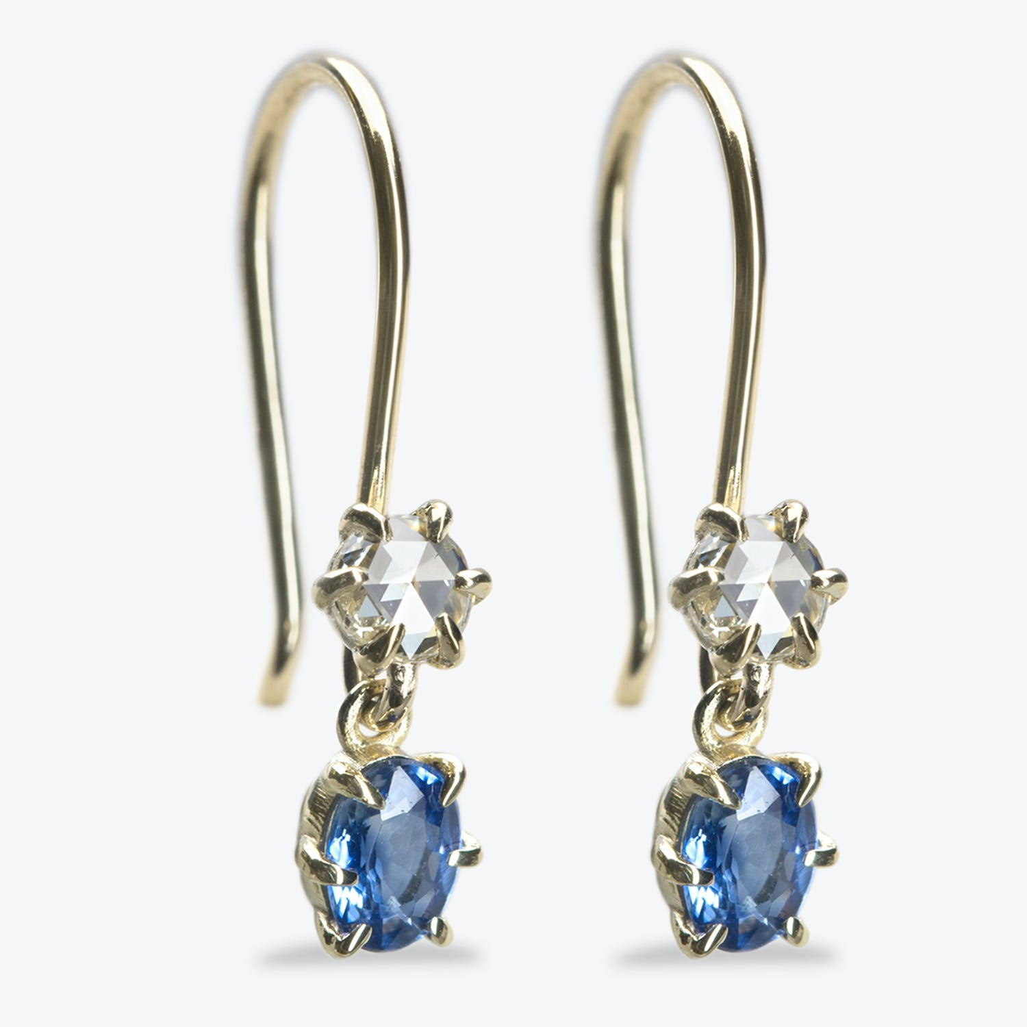 Product Image - Blue Sapphire + Diamond Primary Earrings