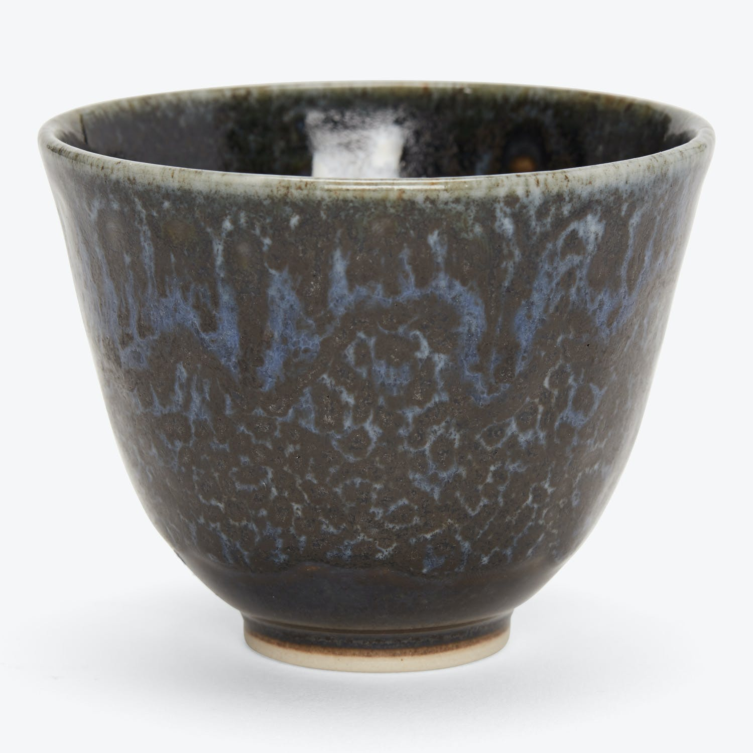Large Stone Cup Blue & Black