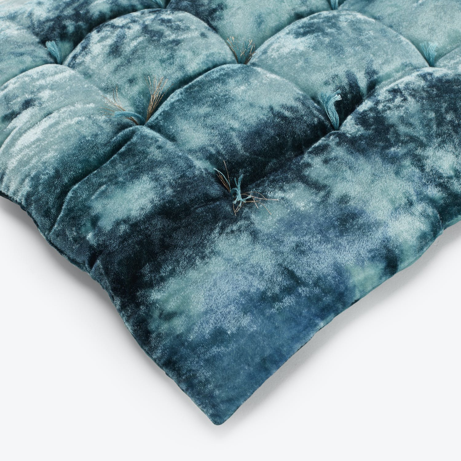 Anke Drechsel Shaded Floppy Velvet Cushion Sky