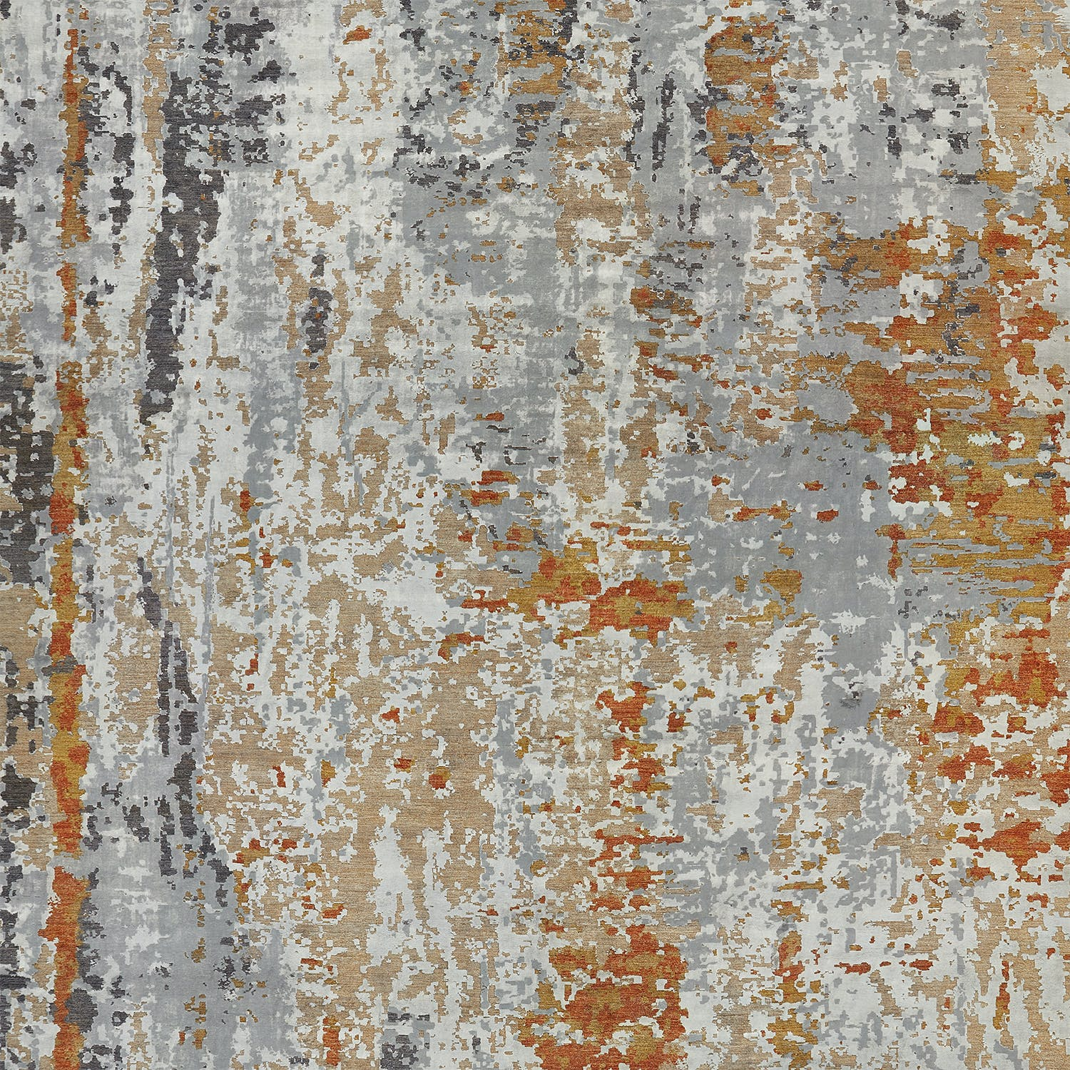 "Contemporary Abstract Silk Rug-13'11""x20'<"