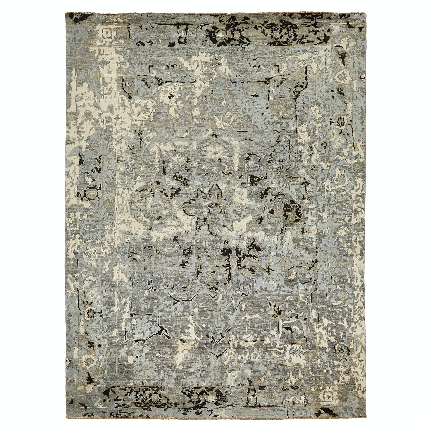 """Contemporary Abstract Wool Rug - 8'9"""" x 11'10"""""""