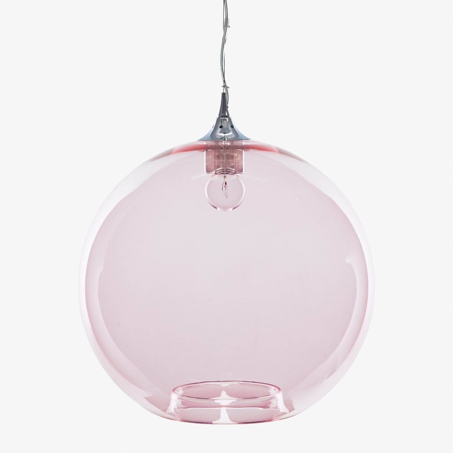 Product Image - Glass Round Pendant Pink