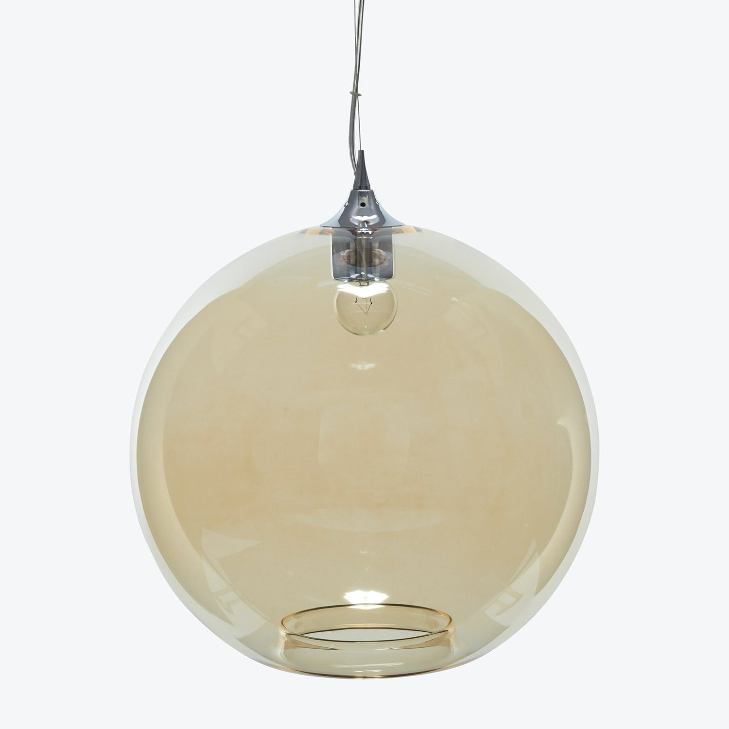 Product Image - Glass Round Pendant Amber