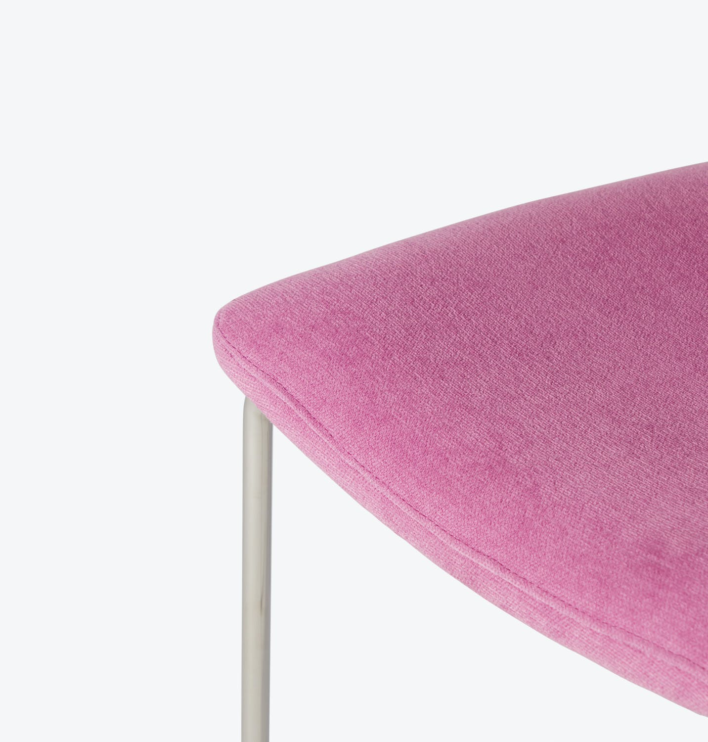 Upholstered Dining Chair Pink