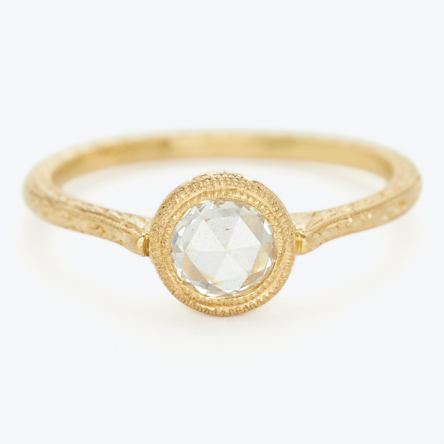 Product Image - Diana Mitchell One-of-a-kind Old European-cut Diamond Engraved Ring
