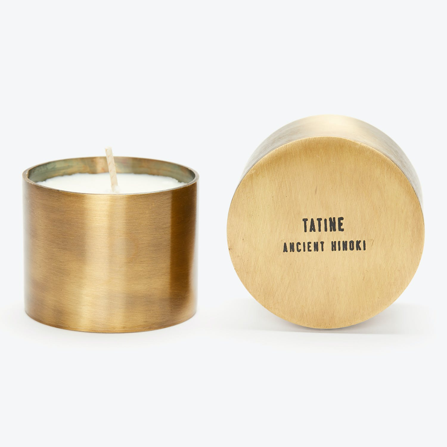 Tatine Natural Brass Collection Ancient Hinoki Candle