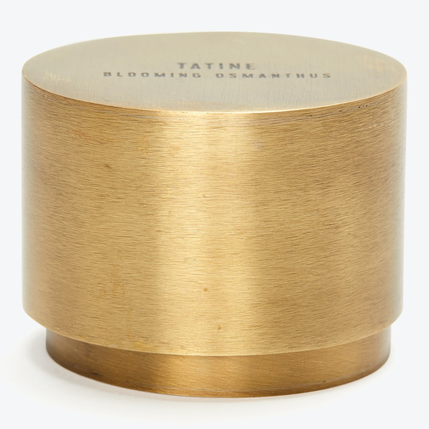Tatine Natural Brass Collection Blooming Osmanthus Candle