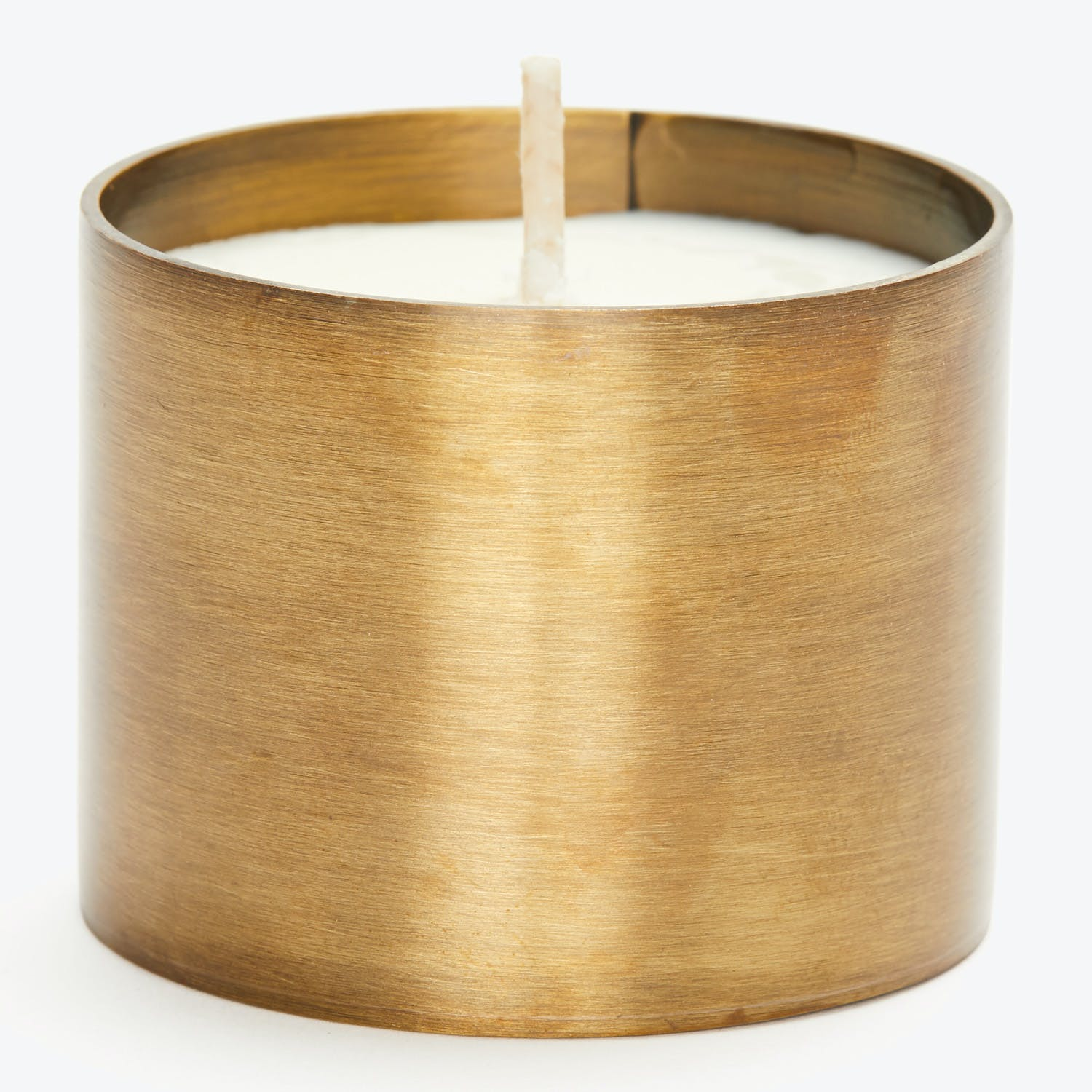 Tatine Natural Brass Collection Orange Flower Candle