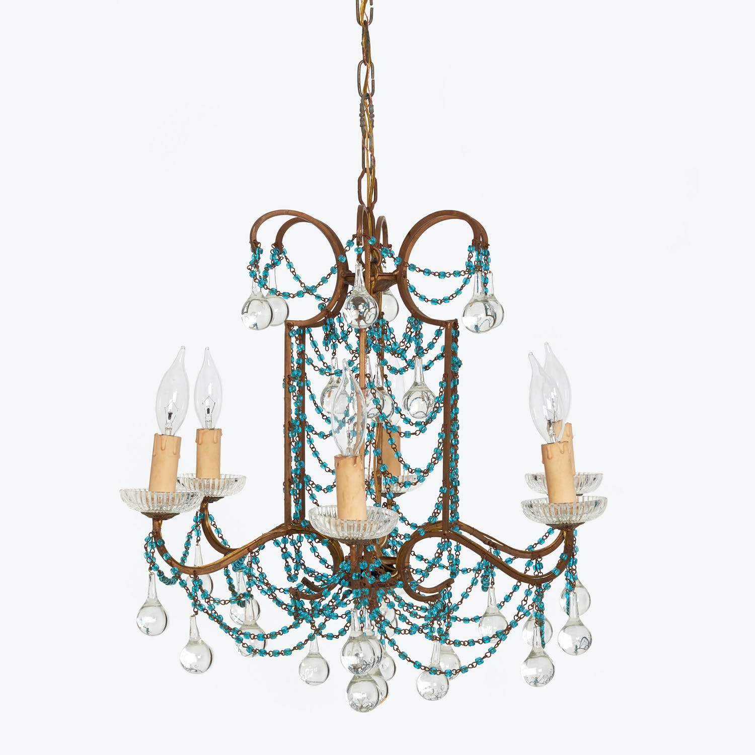 Antique Beaded Chandelier