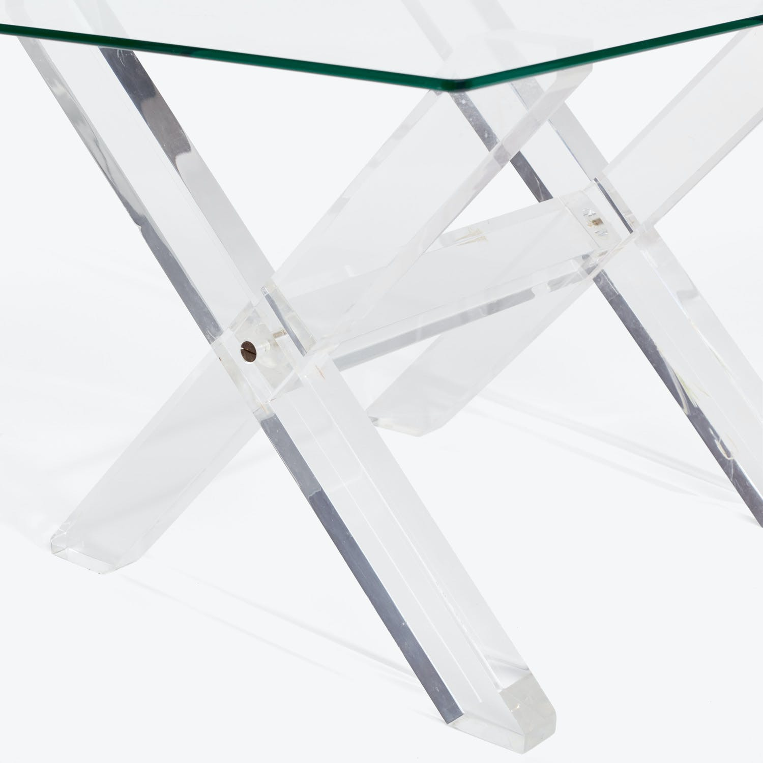 Mid-Century Acrylic and Glass Side Table