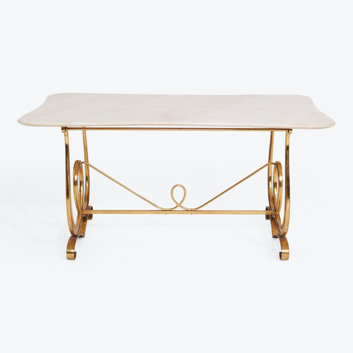 Picture of: Mid Century Brass And Marble Coffee Table Abc Home