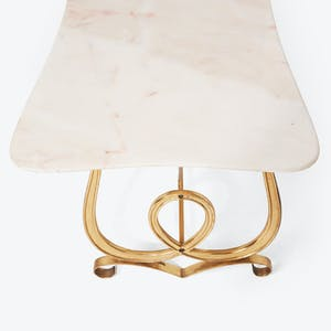 Product Image - Mid-Century Brass And Marble Coffee Table