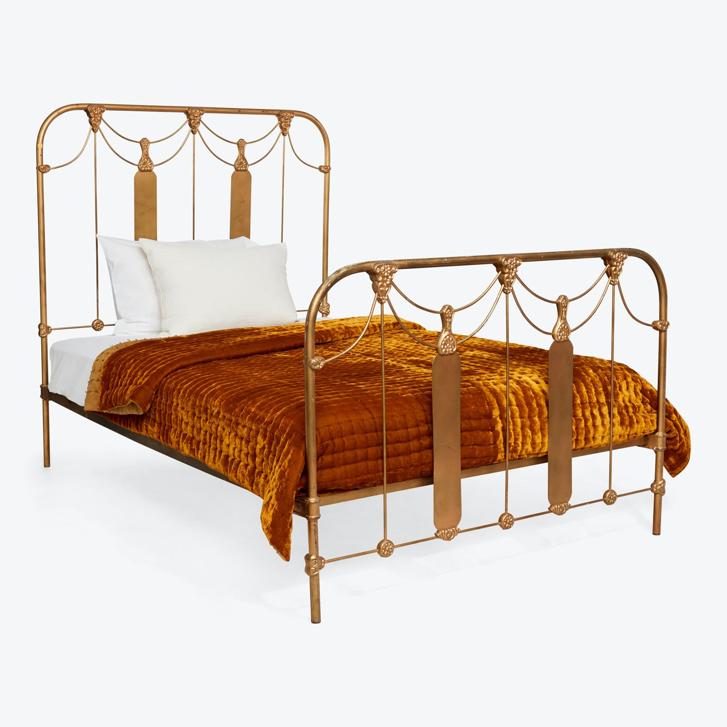 Antique Victorian Full Bed Gold