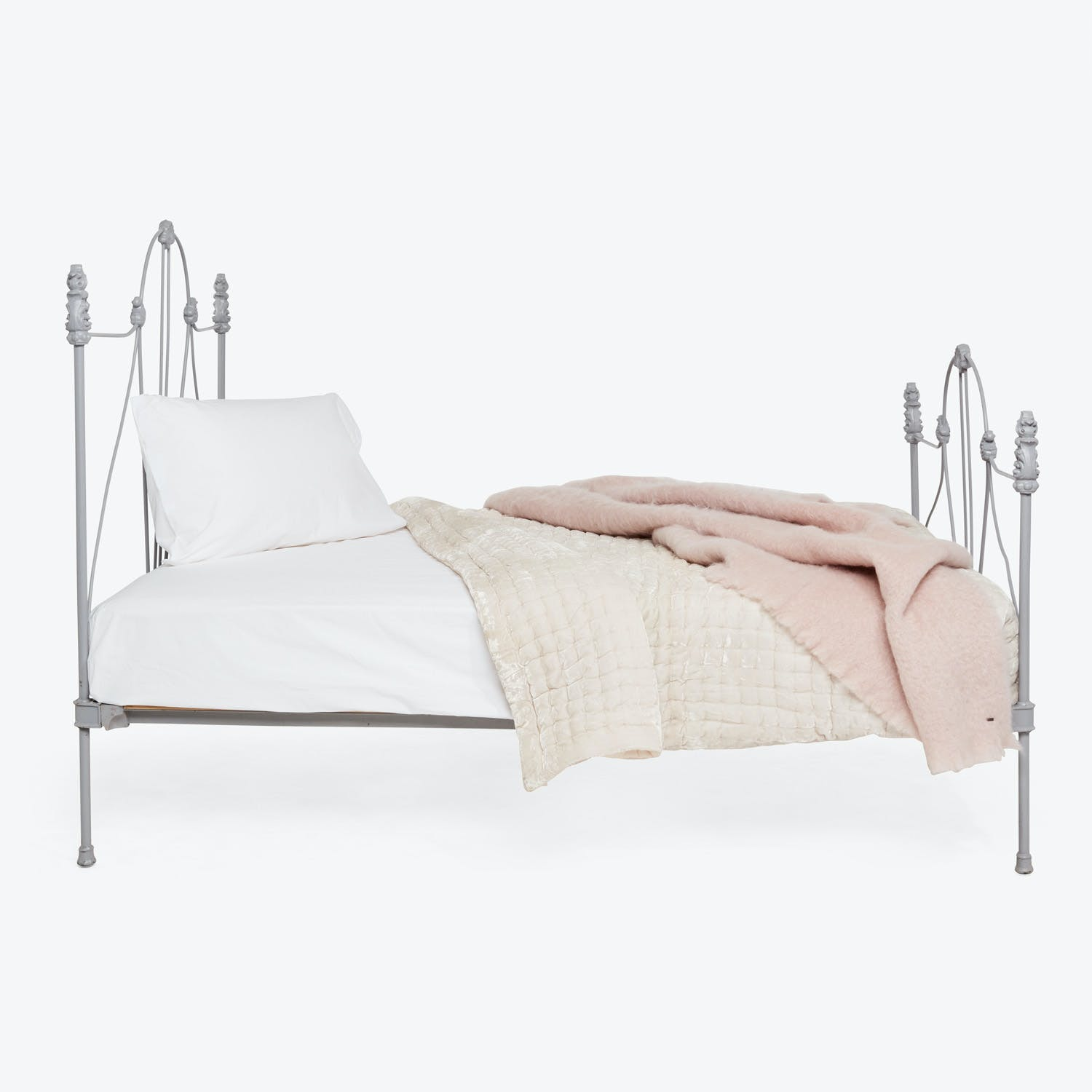 Antique Victorian Full Bed Grey