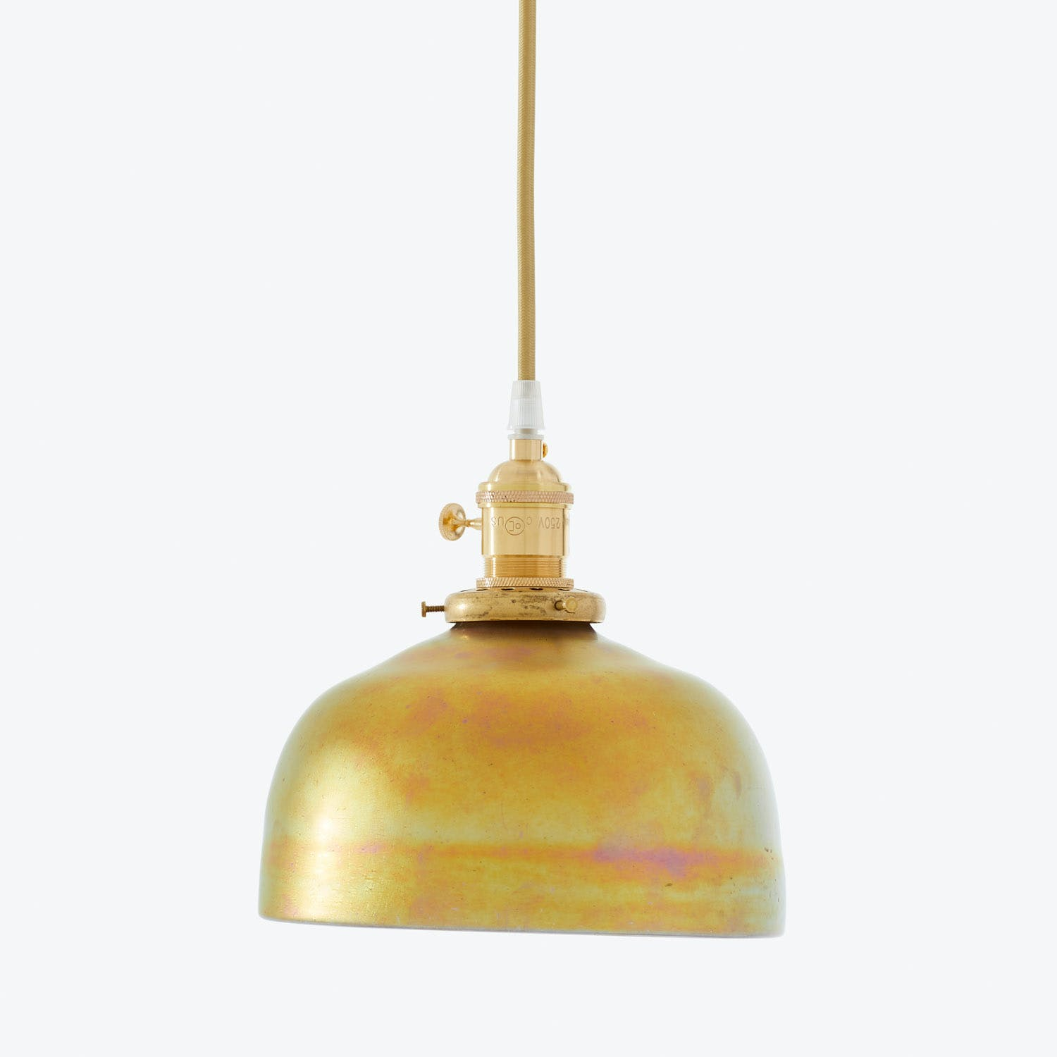 Product Image - Art Glass Dome Pendant Iridescent Green