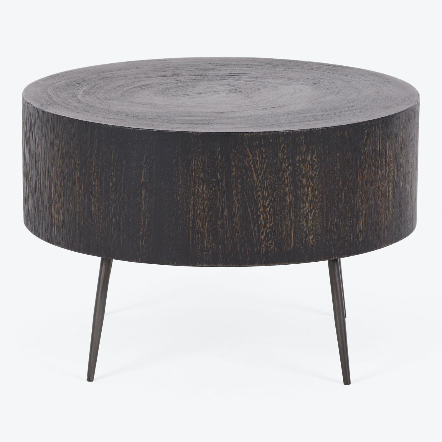 Product Image - Tall Aged Wood Stump Side Table