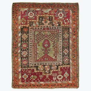 "Product Image - Vintage Turkish Rug - 3'3""x4'7"""